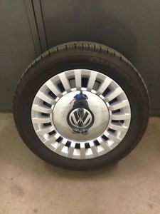 "2012 2013 17"" VW Beetle Alloy Wheel and Tire Package w Hankook Tires $599 00"