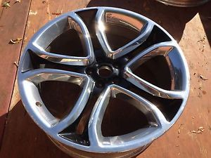 "Ford Edge Factory 22"" Polished Black 2011 2012 Wheel Rim 3"