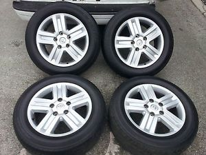 "2012 20"" Toyota Tundra Sequoia Wheels Rims Dunlop Tires 275 55 20 2007 2012"