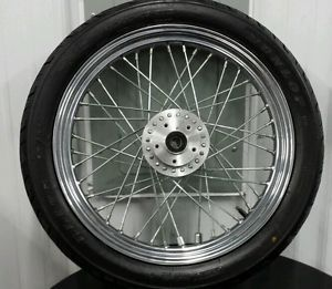 "Harley Davidson 19"" Front Wheel and Dunlop Tire 3 4 Bearings Sportster Softail"