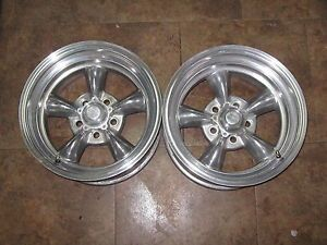 2 15x8 Ford Mopar Polished American Racing Torque Thrust Wheels Rims 5x4 50