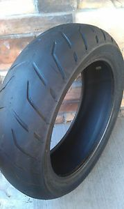 Used 200 55R17 M C 78V Dunlop D407 Harley Davidson Motorcycle Tubeless Rear Tire