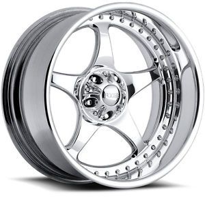 "18"" FOOSE Classic 2piece FIVE00 18inch Custom Wheel Set 2pc Polished FOOSE Rims"