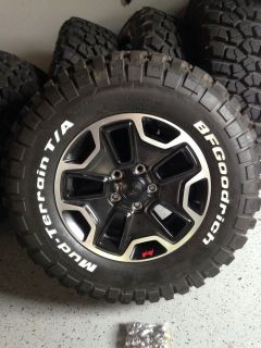 Black 10th Anniversary Jeep Wrangler Rubicon Wheels and BF Goodrich Tires Pkg