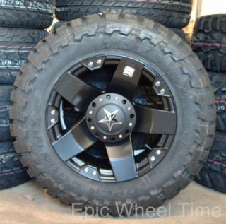 "18"" Black XD Rockstar Wheels Toyo Open Country M T Chevy Dodge 2500 3500 8 Lug"