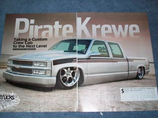"1998 Chevy C K Crew Cab Short Bed Custom Truck Article ""Pirate Krewe"" Centurion"