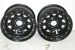 2 Black Rock 952 Wheels 16x8 5x5 07 10 Jeep Wrangler JK