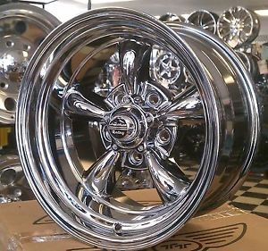 New American Racing Torque Thrust II Wheels Torq 15x7 Chrome PVD Ford Dodge