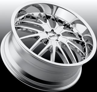 18x8 Advanti Racing Ligero 5x120 32 Chrome Rims Wheels Fit BMW 323 325 330 328