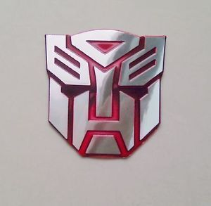 Red Autobot Transformer Head Decoration Moto Auto Car Decal Sticker Tags S
