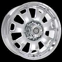 "17"" American Racing ATX Chrome Vice Wheels F250 F350 Ford Super Duty with Lugs"