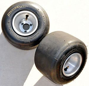 Racing Kart Rear Aluminum Rim Set with Bridgestone 6 0 11 0 5 Tubeless Tires
