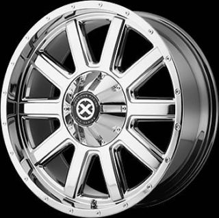 17x9 Chrome American Racing ATX Force Wheels 8x180 12 Lifted GMC Yukon 2500