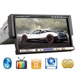 "Single 1 DIN 7"" Car Stereo DVD Player CD VCD iPod TV  Bluetooth Radio D2209"