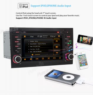 2Din Car Radio CD DVD  Player GPS Bluetooth iPod Audio F Audi A4 2003 2008