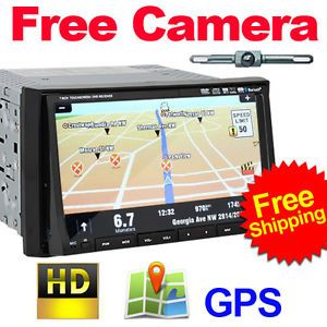 "High Quality 2 DIN in Dash 7"" Car DVD Player with GPS Navigation Camera Warranty"