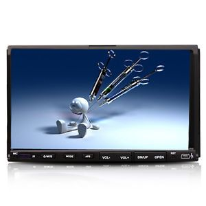 "7""Double DIN Car DVD Player Car Deck Radio Stereo Audio"