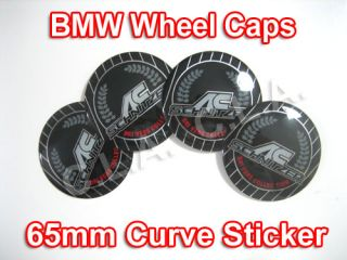 Schnitzer BMW Wheel Center Cap Sticker 65mm Curve