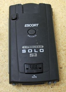 Escort Solo S3 Cordless Radar Detector Good Condition 737795053507