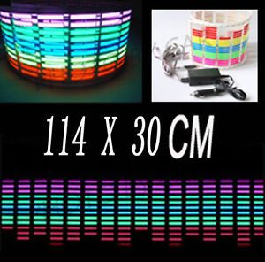 114x30cm Car Sticker Music Rhythm LED Flash Light Lamp Sound Activated Equalizer