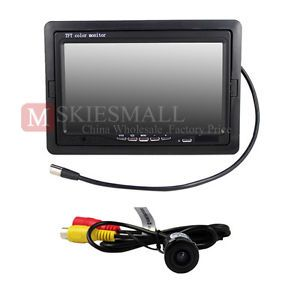 "Car 7"" TFT LCD Monitor 135 Degree Car Rear View Backup Camera Night Vision 12V"