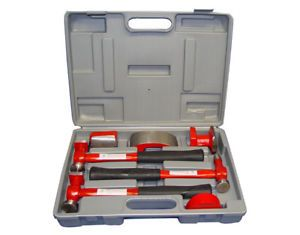 Auto Body Dent Fender Repair Hammer Dolly Tool Kit Set