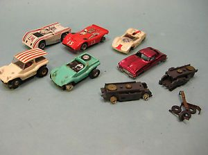 Vintage Aurora Slot Car Lot Parts Dune Buggy Ferrari Porsche Vette Bridg
