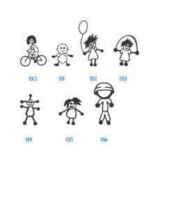 Vinyl Stick People Family Decal Stickers Car Window Girl Boy Pet Career Football