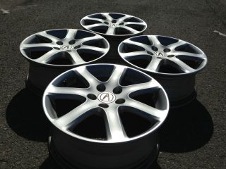 4 Acura TSX Legend TL Factory 17 Wheels Rims Caps 5x115 Silver Honda JDM