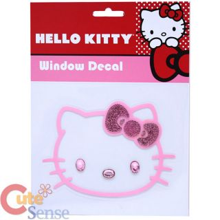 "Sanrio Hello Kitty Pink Stone Cling Decal Sticker 5"" Car Auto Accessorie"