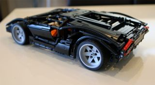 Lego Custom Technic Lamborghini Countach LP400 Super Car Limited RARE Set