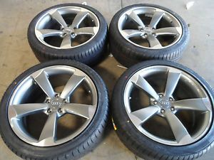 "19"" Audi A4 S4 B8 RS4 s Line Wheels Tires Machined Gunmetal 20 Rims VW Passat"