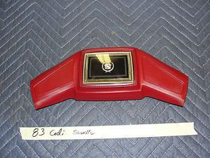 76 89 Cadillac DeVille Steering Wheel Horn Pad Cap Button Emblem Red