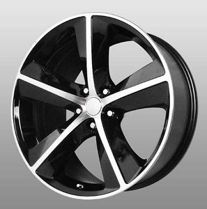 "20"" Dodge Challenger SRT8 Replica Black Wheels 4 Rims 20x9 Fit Chrysler 300"