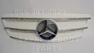 03 06 W220 Grille White Grill s Class S430 S500 S600 S55 w Star Mercedes Hood