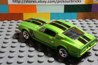 Hot Wheels Green '67 Ford Shelby GT500 Coupe Diecast w Black Race Stripes