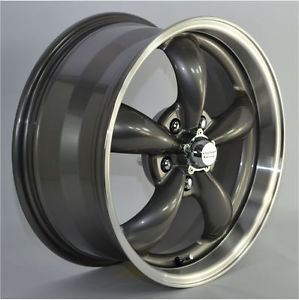 "17x7 5"" Charcoal Gray Aluminum 5 Spoke Wheels Rims for Ford Mustang 2013"