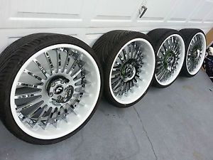 "22"" Forgiato Andata Staggered Wheels Rims Tires Audi Mercedes Bentley Maybach"