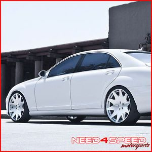 "22"" Benz S400 S550 S600 S63 S65 MRR HR3 Concave VIP Silver Staggered Wheels Rims"
