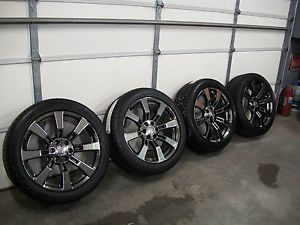 "Black Chrome CK375 22"" Wheels Chevy Cadillac Escalade Denali Tahoe Silverado"