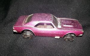 1968 Redline Hot Wheels Creamy Pink Custom Camaro USA Car