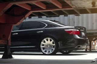 "20"" Lexus LS430 MRR HR3 VIP Concave Silver Staggered Rims Wheels"