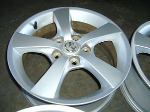 "04 05 06 Mazda 3 16"" Alloy Wheels Rims Silver 5 Spoke Protege MVP 6 626 Tribute"