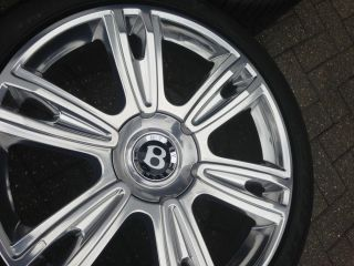 "21"" Bentley Diamond Alloy Wheels 2753521 Pirelli Tyres GT GTC Spur Genuine"