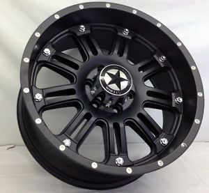"Lonestar ""489"" Matte Black Wheels 20 inch Dodge Truck RAM 1500 20"" Rims 5x5 5"