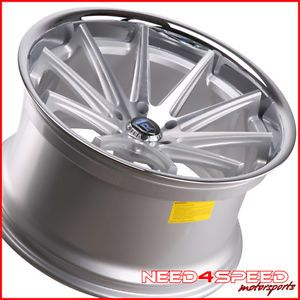 "20"" Nissan 370Z Rohana RC10 Deep Concave Silver Staggered Wheels Rims"