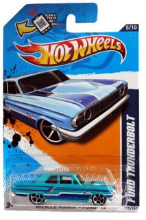 2012 Hot Wheels Muscle Mania Ford 115 Ford Thunderbolt Teal