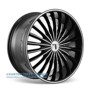 "20"" Velocity VW11 Black Rims for Pontiac Lincoln Scion Toyota Wheels"