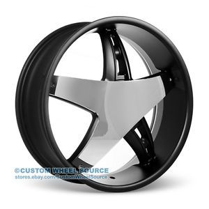 "20"" Velocity VW930 Black Rims for Pontiac Lincoln Scion Toyota Wheels"