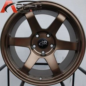17x9 Rota Grid Wheels 5x100 Sport Bronze Rims 35mm Fits Scion TC 2005 2010